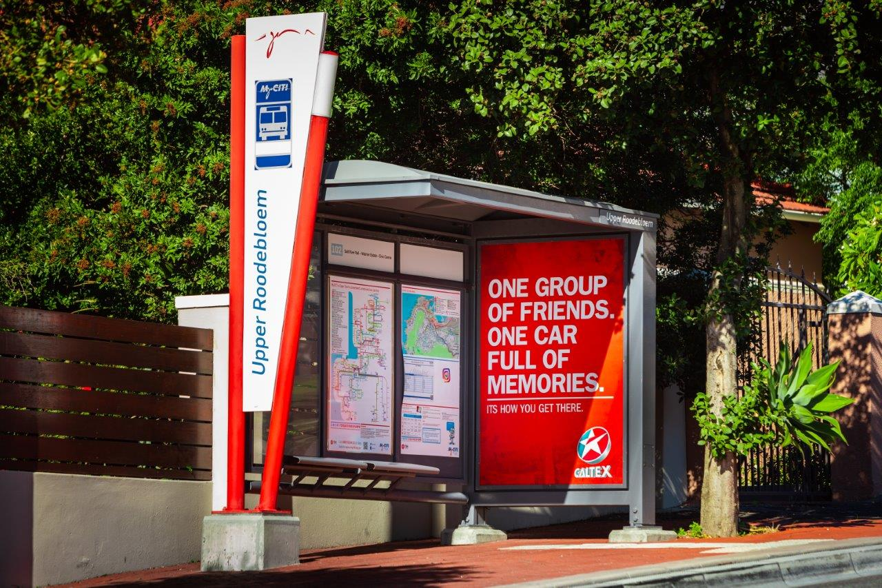 Caltex Street Network Bus Shelter Campaign